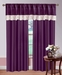 Serena Curtain Set w/ Tassels / Sheers Purple