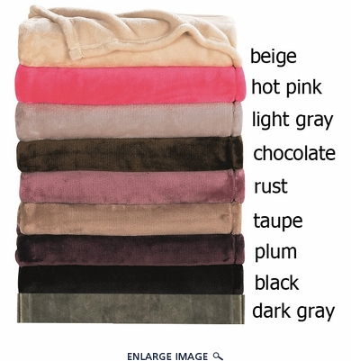 Serenity Hot Pink Flannel Mink Throw