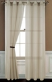 Sheer Beige Gommet Window Curtain Panel