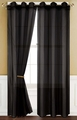 Sheer Black Gommet Window Curtain Panel