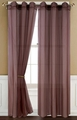 Sheer Chocolate Gommet Window Curtain Panel