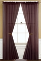 Sheer Chocolate Rod Pocket Window Curtain Panel