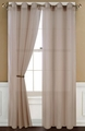Sheer Taupe Gommet Window Curtain Panel