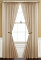 Sheer Taupe Rod Pocket Window Curtain Panel