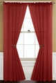 Sheer Terracotta Rod Pocket Window Curtain Panel