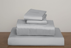 Silver Collins 1000 Thread Count Solid Sheet Set King