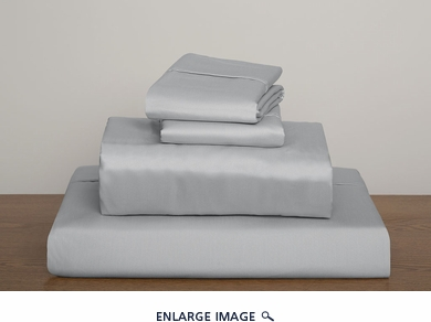 Silver Collins 1000 Thread Count Solid Sheet Set Queen