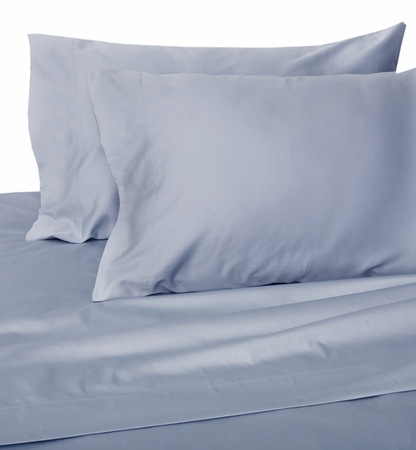 Sky Blue Hotel 600 Thread Count Cotton Sateen Pillowcases Standard/Queen