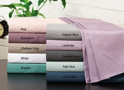 Smoked Pearl 500 Thread Count Cotton Check Dots Sheet Set Queen