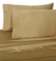Tan Hotel 600 Thread Count Cotton Sateen Sheet Set Cal King