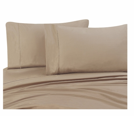 Taupe 300 Thread Count Cotton Pillowcases Standard/Queen