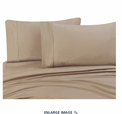 Taupe 300 Thread Count Cotton Sheet Set Queen
