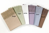 Taupe 500 Thread Count Cotton Lace Sateen Sheet Set Queen