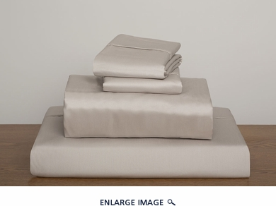 Taupe Collins 1000 Thread Count Solid Sheet Set Queen