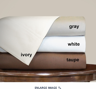 Taupe Dexter 1000 Thread Count Solid Sheet Set King