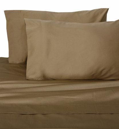 Taupe Hotel 600 Thread Count Cotton Sateen Pillowcases King