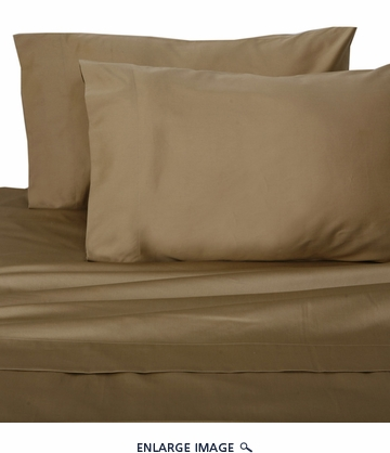 Taupe Hotel 600 Thread Count Cotton Sateen Sheet Set Full