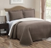 Taupe/Ivory Reversible Bedspread/Quilt Set Queen