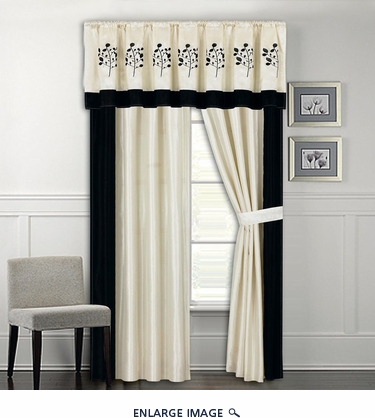 Trabuco Embroidered Curtain Set