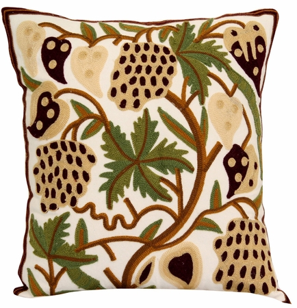 Tropical Green/Coffee Decorative Throw Pillow 18