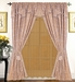 Trump Gold Jacquard Curtain Set