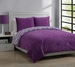 Twin Forever Young Moire Comforter Set Plum/White