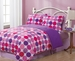 Twin Geo Circles Reversible Comforter Set