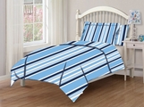 Twin Microfiber Kids Ashton Blue Bedding Comforter Set