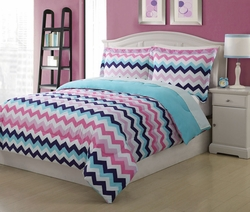 Microfiber Kids Chevron Bedding Comforter Set