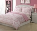 Twin Microfiber Kids Dainty Bedding Comforter Set Pink