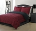 Twin Microfiber Kids Jeanette Bedding Comforter Set Red/Black