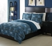 Twin Microfiber Kids Optic Ikat Bedding Comforter Set Blue