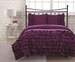 Twin Miley Mini Ruffle Comforter Set Purple