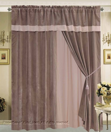 Urban Micro Suede Curtain Set w/ Valance/Sheer/Tassels
