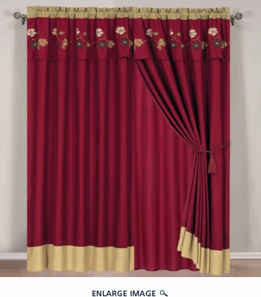 Vallejo Curtain Set w/ Valance/ Tiebacks / Sheers