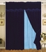 Velvet Navy Curtain Set w/ Valance/Sheer/Tassels