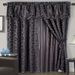 Venice Jacquard/Satin Curtain Set Coffee