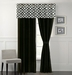 Venturi Black and White Curtain Set