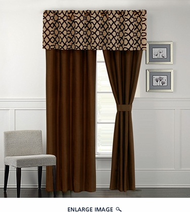 Venturi Coffee and Tan Curtain Set