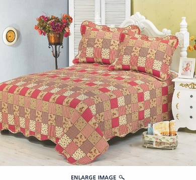Vintage Patchwork Cotton Reversable Quilt Set King
