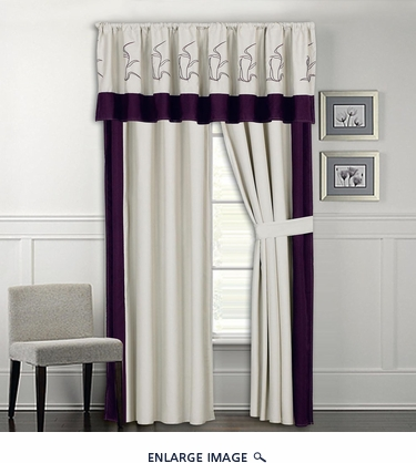 Visalia Embroidered Curtain Set