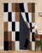 White/Brown/Black Berkley Patchwork Micro Suede Curtain Set