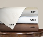 White Dexter 1000 Thread Count Solid Sheet Set Queen