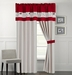Zahara Burgundy and Coffee Curtain Set