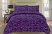 Zebra Purple and Black Down Alternative Comforter Set Twin