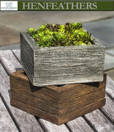 Barn Board Planter Small Square