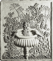 Birds On A Fountain Plaque - Dover White{USA}