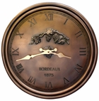 Bordeaux Clock, Vintage Wine 1875