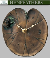 Boutique Lily pad Clock