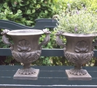 Classic Clam Shell and Seahorse Urn Pair[ this price on this sample pair Only]
